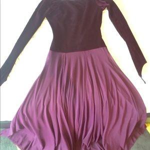 Dresses & Skirts - Vintage purple and velvet dress